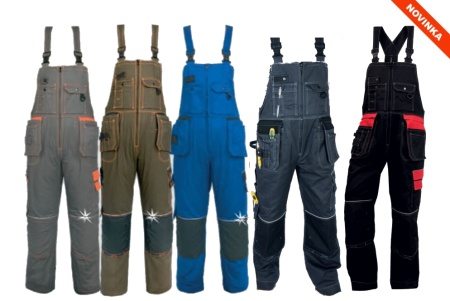 Pracovné odevy-Montérkové nohavice s náprsenkou KRYŠTOF
