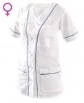 Pracovné odevy - Blúza ANETA dámska bielo-modrá