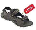DOPREDAJ! Sandále SLATE so žltými doplnkami na 3 suché zipsy. Zvršok umelá koža,  - podošva guma,  - veľ.: 36-40