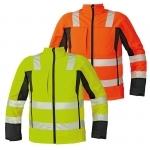 Pracovné odevy - Reflexná softshellová bunda MALTON