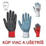 Pracovné rukavice - FLEXO GRIP A319 nitrilové - cena od 0,65 €