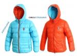 NA OBJEDNÁVKU! Detská, ultraľahká a veľmi teplá, obojstranná bunda MEMPHIS KIDS,módny hit jeseň/zima 2014,farba: tyrkys-zelená, veľ.: 100-160