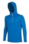 DODANIE 5-7 dní!  Funkčné tričko MOVE s kapucňou vysokej kvality,farba : modrá, veľ.: M-2XL