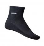 NA OBJEDNÁVKU! Čierne členkové ponožky ABI. Materiál: 85% bambusové vlákno, 12% polyester, 3% elastan. Sú jemné, zadržiavajú pot. Spodná strana ponožky je zosilnená. Veľkosť: 39-42, 43-46