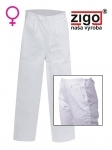 Pracovné odevy - Nohavice DANIELA dámske biele