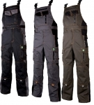 Pracovné odevy - Montérkové nohavice VISION s náprsenkou
