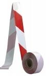 Páska -  bezpečnostná zábrana, červeno-biela, materiál PE, šírka 70 mm, dĺžka 500 m.