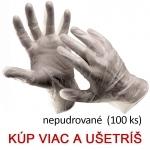 Jednorazové vinylové rukavice RAIL NON