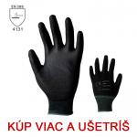 Pracovné rukavice BUCK/BUNTING čierne - cena od 0,36 €
