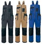 Pracovné odevy - Montérkové nohavice OLZA s náprsenkou