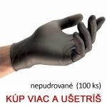Jednorazové nitrilové rukavice TOUCH N TUFF 93-250 čierne