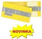 NA OBJEDNÁVKU! Reflexný pás na ruku. Zapínanie na suchý zips. 9 x 50 cm. Vysoká viditeľnosť, strieborná farba. Balík obsahuje 10 ks.