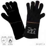 Pracovné rukavice SAM (SANDPIPER) zváračské čierne - už od 2,6 €