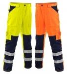Pracovné odevy - Reflexné nohavice NORWICH do pása