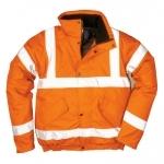Pracovné odevy - Reflexná bunda RT32 Hi-Vis Bomber oranžová