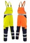 Pracovné odevy - Reflexné nohavice NORWICH s náprsenkou