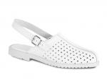 Pracovná obuv – Sandále zdravotnícke biele kožené