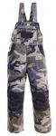 SKLADOM! Detské montérkové nohavice s náprsenkou. Zosilnený sed, kolená. Náprsné vrecká. 65% bavlna, 35% polyester, 230 g/m2