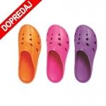 DOPREDAJ! Šľapky z EVA materiálu.  Farba: ružová, oranžová, fialová  veľ.: 36-40