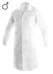 Pracovné odevy - Plášť ADAM / FERN pánsky biely (dlhý rukáv)