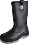 NA OBJEDNÁVKU! Bezpečnostná holeňová obuv, vodeodolná, obsahuje oceľovú špicu, planžetu. Vnútorná časť zo syntetickej kožušiny. PU2D podrážka- nekresliaca, odolná proti pohonným hmotám, olejom a teplu.Veľkosť:39-47