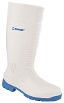 DODANIE 3-7 DNÍ! Biele pracovné čižmy WHITEFISH OB s modrou podrážkou. Materiál: zmes PVC a nitrilu. Zvršok: biele PVC. Veľkosť: 37-47