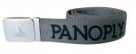 Opasok rady PANOPLY, 100% Polyester, kovová pracka, šedá farba.