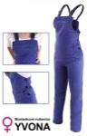 Pracovné odevy - Dámske montérkové nohavice s náprsenkou YVONA
