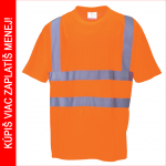 Pracovné odevy - Reflexné tričko RT23 oranžové - cena od 6,04 €