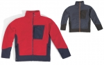 DOPREDAJ!  Kvalitná, teplá mikina BOLTON z polar fleece, 3 vrecká, zapínanie na zips, zips v kontrastnej farbe, v 2 farbách: tmavomodrá, červená, 350 g/m2, polar fleece. Veľ: S-3XL