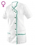 Pracovné odevy - Blúza ANDREA dámska bielo-zelená