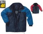 DODANIE 3-7 dní! Bunda zimná, zateplená ALASKA, odnímateľná podšívka, farba modrá, sivá, červená, veľkosť S - 3XL