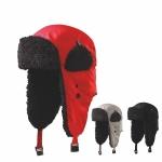 SKLADOM! Moderná ušianka Furry, hrejivá zimná čiapka s klapkami na uši, čelo zdobí a zároveň zatepľuje umelá kožušina. Veľkosť: S a L