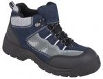 BEŽNE SKLADOM! Moderná trekingová obuv FOREST O1, kombinácia semišovej usne a textilu v modro-sivých odtieňoch, kvalitné polstrovanie jazyka a bandáže, PU2D nepíšuca podošva, odolná proti olejom, pohonným hmotám  a kontaktnému teplu do 110 °C, norma: EN
