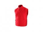 Pracovné odevy - Fleecová vesta UTAH červená