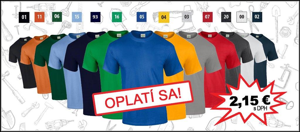 Najlôacnejšie pracovné bavlnené tričko KEYA - Pracovné odevy Zigo