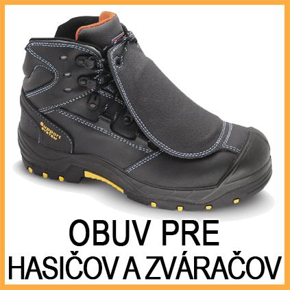 Obuv pre zváračov a hasičov - zlievarenské pierko pre zváračov - zváračská obuv - zváračské pracovné odevy