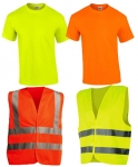 Reflexné vesty, tričká a odevy do dažďa