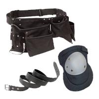 Doplnky - nakolenníky, opasky, pracovné tašky