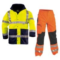 Pracovné odevy - Reflexné bundy, mikiny, blúzy, nohavice, vesty, tričká, odevy do dažďa, doplnky