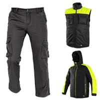 Zimné  bundy, nohavice a vesty