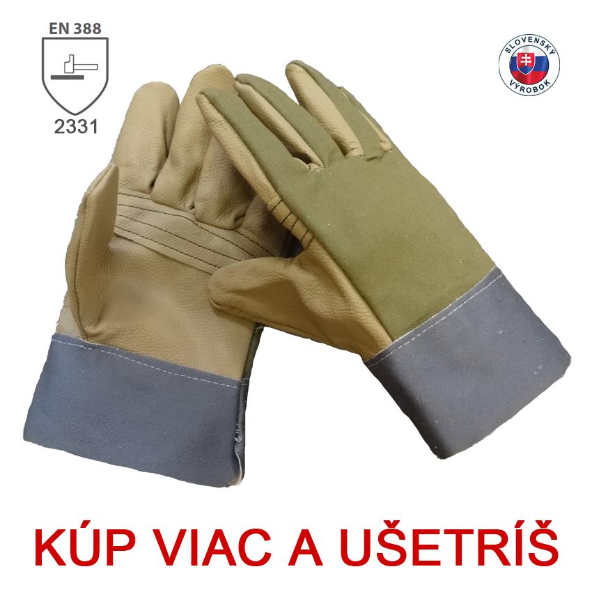 Kombinované rukavice ELENA - dámske 5a3803c4af