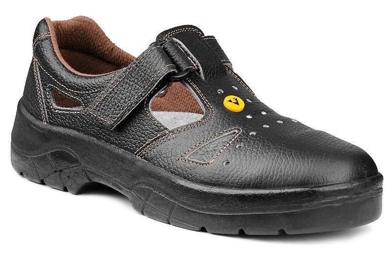 Pracovná obuv – Sandále OMEGA S1 čierna ESD c4896b832b