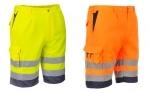 BEŽNE SKLADOM! Montérkové reflexné krátke nohavice E043 typu bermudy, elastický pás po bokoch, 7 vreciek vrátane vrecka na mobil. Materiál: 35 % bavlna, 65 % polyester. Norma: EN 471. Farba: oranžová, žltá Veľkosť: S-2XL.