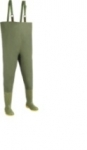 DODANIE 3-7 DNÍ! Vysoké rybárske čižmy až na hruď. Biela nylonová výstielka. Zvršok z PVC- zelené. Veľkosť 40-47