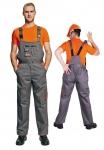 Pracovné odevy - Montérkové nohavice s náprsenkou DESMAN
