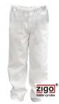 Pracovné odevy - Nohavice celoguma dámske biele