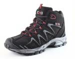DOPREDAJ! Ľahká, softshellová obuv CXS SPORT,čierna trekingová obuv s kontrastnými červenými doplnkami, prepracované detaily,vhodná na voľný čas a turistiku, veľ: 37,41