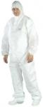 Jednorazové odevy - Overal biely netkaný GUARD