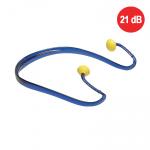 NA OBJEDNÁVKU! EAR BAND vankúšové umývateľné tvarované zátkové chrániče sluchu, uzatvárajú len vonkajšie ústie zvukovodu.S ľahkým a pružným oblúkom okolo krku a vymeniteľnými zátkami. SNR 21dB.